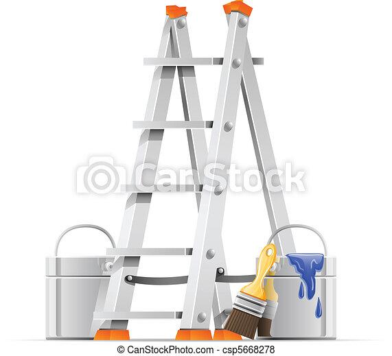קבע, כלים, צייר - csp5668278
