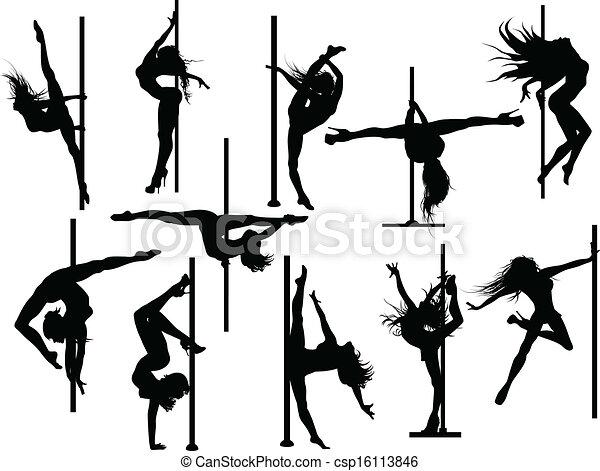 קוטב, רקדן, צלליות - csp16113846