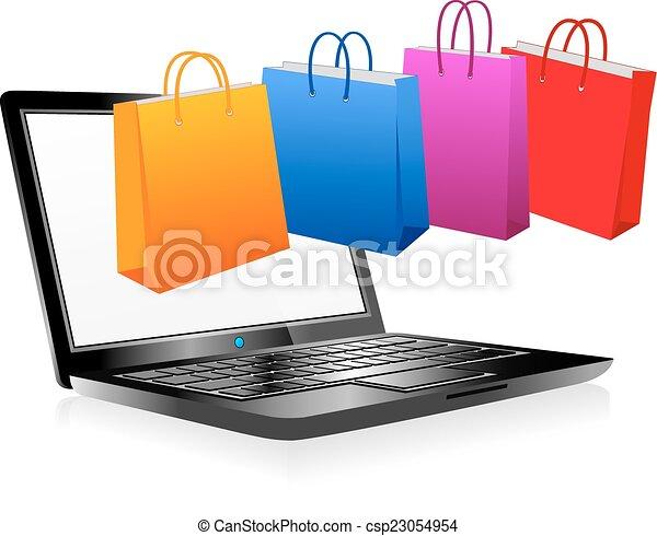 קניות אונליין, אינטרנט - csp23054954