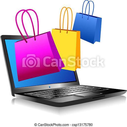 קניות, אינטרנט - csp13175780