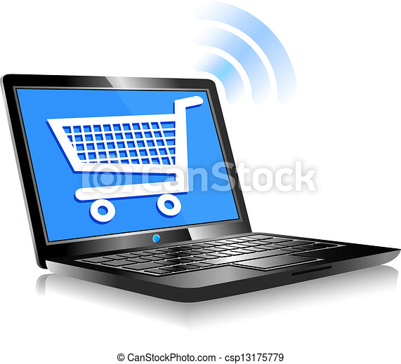 קניות, אינטרנט - csp13175779
