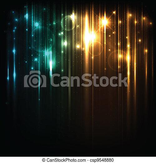 קסם, כוכבים, אורות, מואר, וקטור, רקע - csp9548880