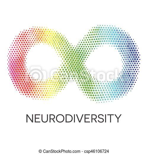 קשת, loop., אין סוף, neurodiversity, סמל. - csp46106724