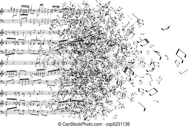 רואה, מוסיקה, הלאה, לרקוד - csp5231136
