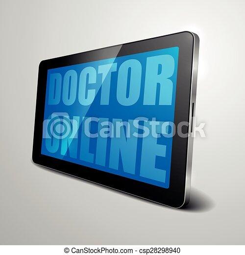 רופא, אונליין - csp28298940