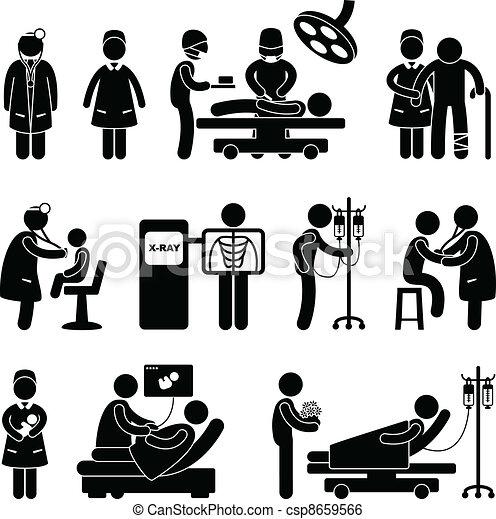 רופא, אחות של כירורגיה, בית חולים - csp8659566