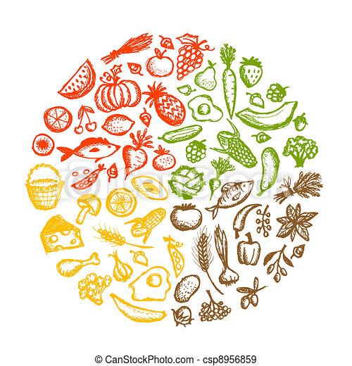 רשום, אוכל בריא, רקע, עצב, שלך - csp8956859