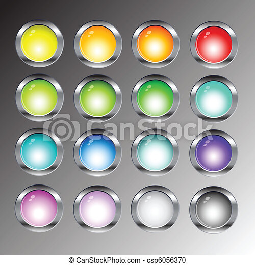 רשת, מבריק, כפתורים, איקונים - csp6056370