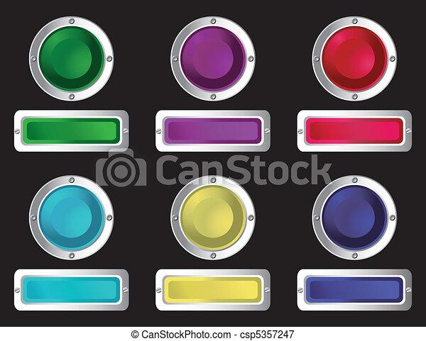 רשת, buttons. - csp5357247