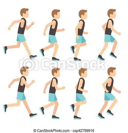 שדון, סדר, אתלטי, אמונית, לרוץ, דוגמה, הסגר, וקטור, אנימציה, איש - csp42799916