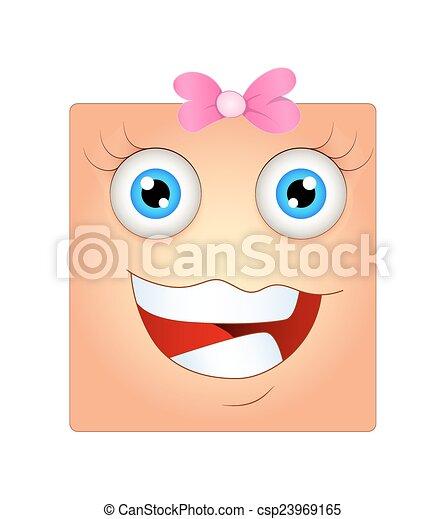 שמח, סמילאי, פנים נקבות - csp23969165