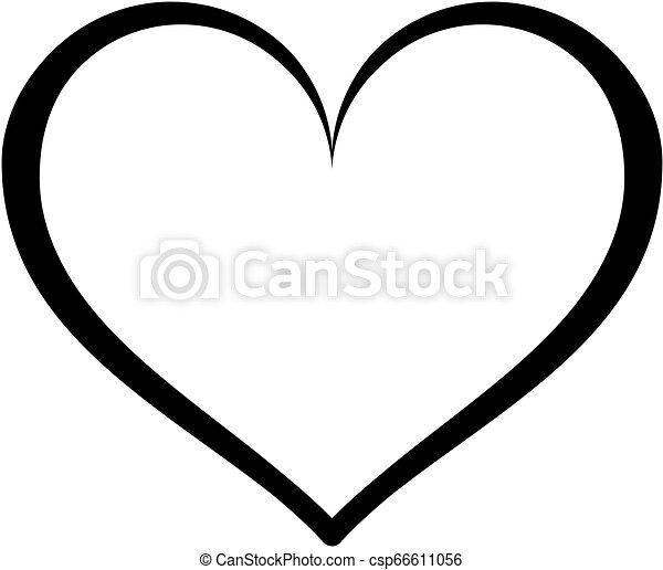 תאר, לב, icon. - csp66611056