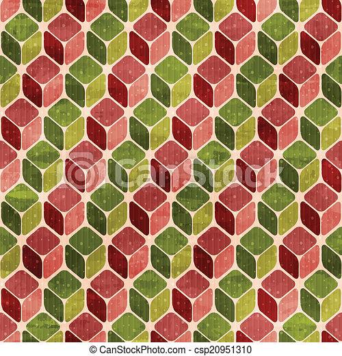 תבנית, וקטור, ראטרו, seamless - csp20951310