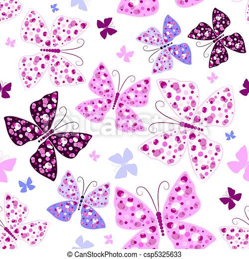 תבנית, פרפרים, seamless - csp5325633