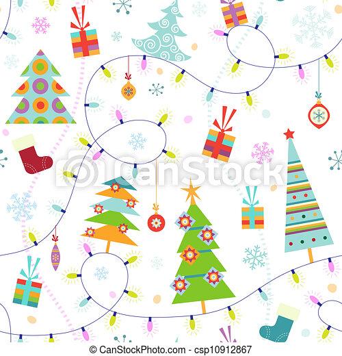 תבנית, seamless, חג המולד - csp10912867