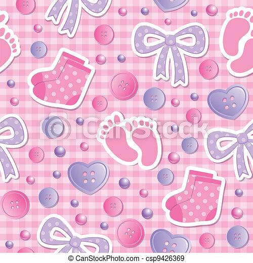 תינוק, תבנית, seamless - csp9426369