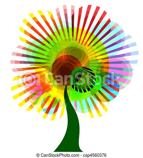 תקציר, עץ, צבעוני - csp4560376