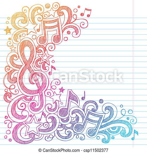*g*, רואה, sketchy, מוסיקה, doodles, כלאף - csp11502377