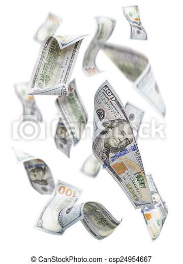 randomly, $100, לפול, חשבונות, לבן - csp24954667