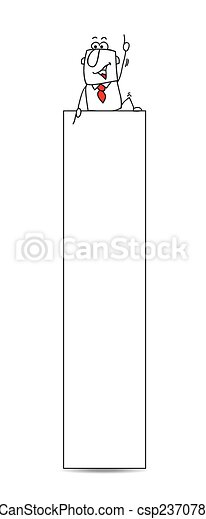 vvertical, דגל, איש עסקים - csp23707812